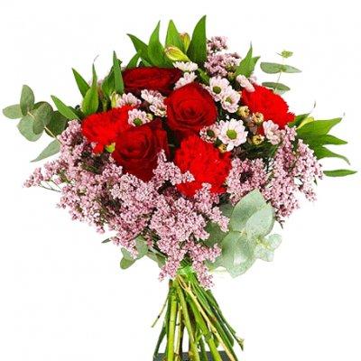 skicka blommor hem till någon
